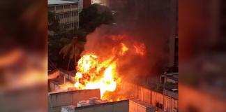 Incendio en subestación Los Ruices alarmó a residentes