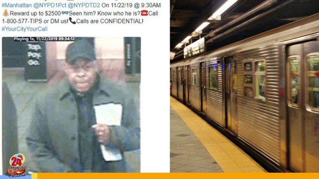 Pareja buscada en Nueva York por tener relaciones en el metro