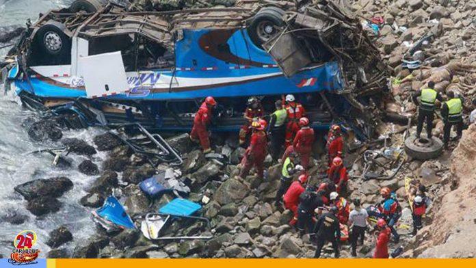 Accidente de autobús en Chile - Accidente de autobús en Chile