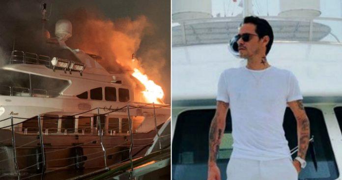 Incendio en lujoso yate de Marc Anthony dejó perdidas millonarias