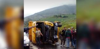 Accidente en carretera entre Táchira y Barinas dejó 11 heridos
