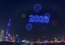 Año Nuevo en Shangai con impresionante espectáculo de drones