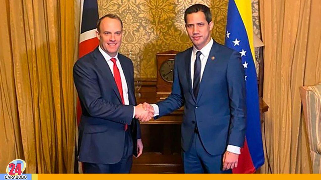 Guaidó en Reino Unido sostuvo reunióncon el ministro Dominic Raab