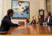 Juan Guaidó en Colombia sostiene reunión con Iván Duque