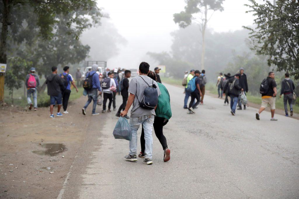 Inmigrantes hondureños rumbo a Estados Unidos