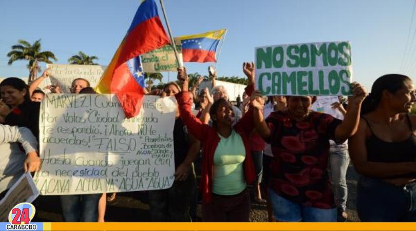 Protesta en Los Caobos para exigir mejores servicios públicos