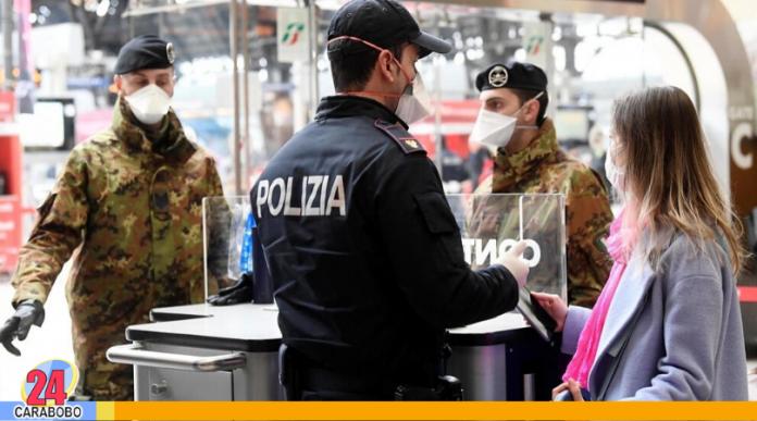 Aislamiento total en Italia