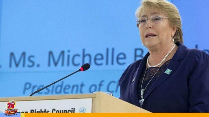 Bachelet pidió suspender sanciones