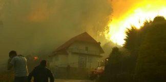 Incendio forestal en la Colonia Tovar - Incendio forestal en la Colonia Tovar