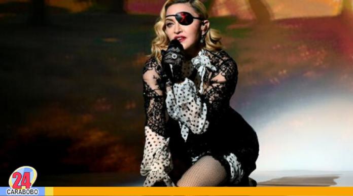 fuerte caída de Madonna