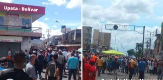 Disturbios en Bolívar y Monagas