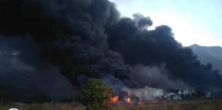 incendio en instalaciones del ferrocarril La Cabrera