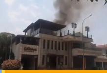 Incendio en restaurante en El Viñedo