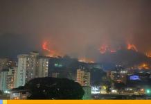 Incendios forestales en Caracas
