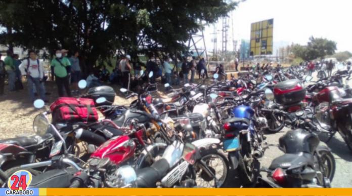 Protestas de motorizados en Carabobo