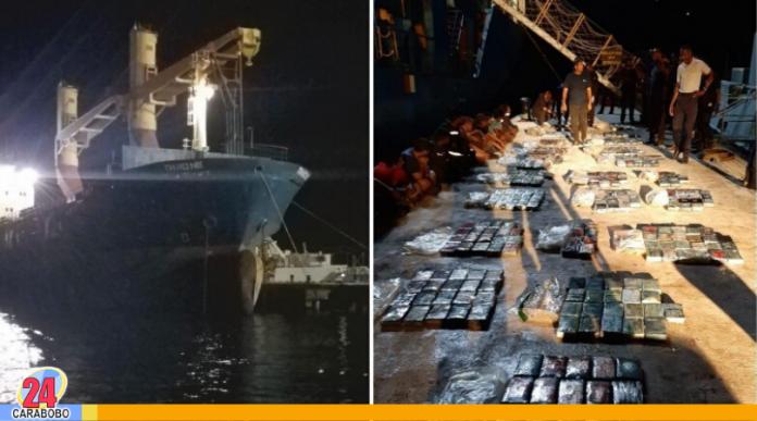 cargamento de cocaína en buque petrolero