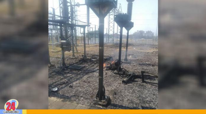 Incendio en subestación eléctrica en Carabobo