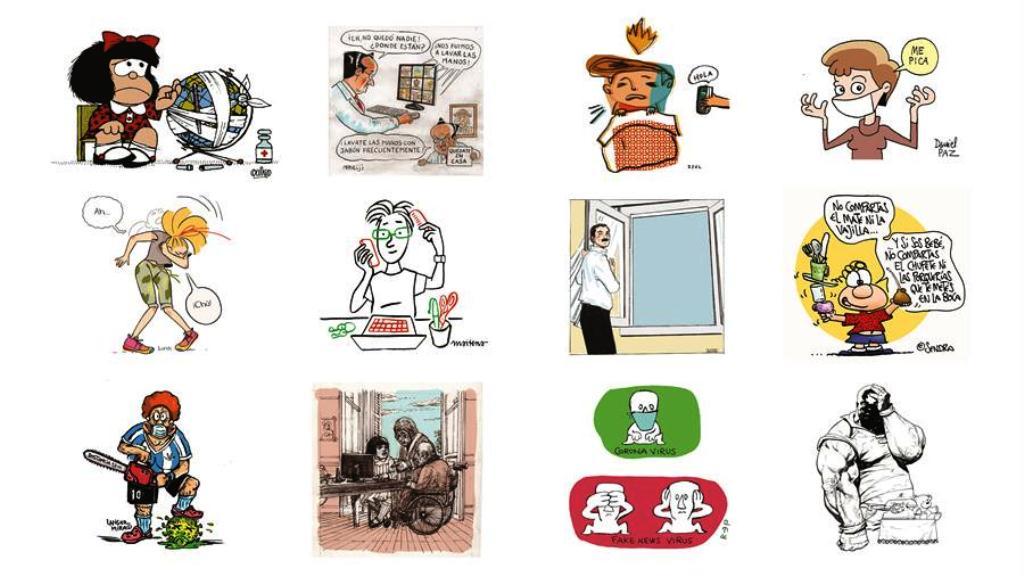 Mafalda contra el coronavirus une a campaña junto a otros héroes