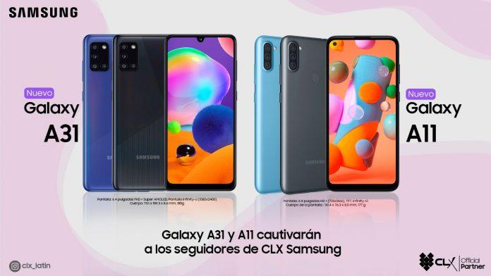 Galaxy A31 y Galaxy A11
