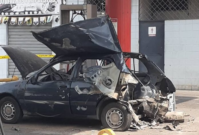 Estalló bombona de gas adaptada a carro - noticias24 Carabobo