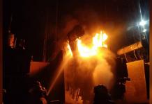 incendio en subestación de Planta Centro