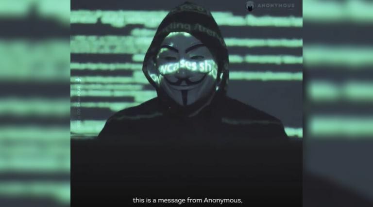 Filtran supuesto vídeo de Anonymous que amenaza con exponer crímenes de EE.UU.