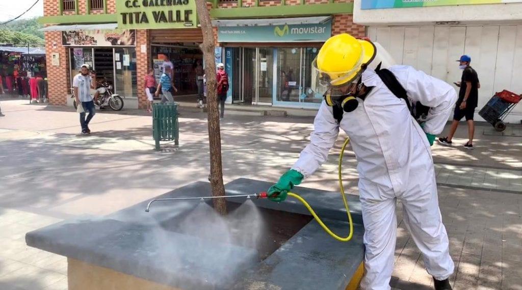 Desinfección en Centro Histórico de Valencia