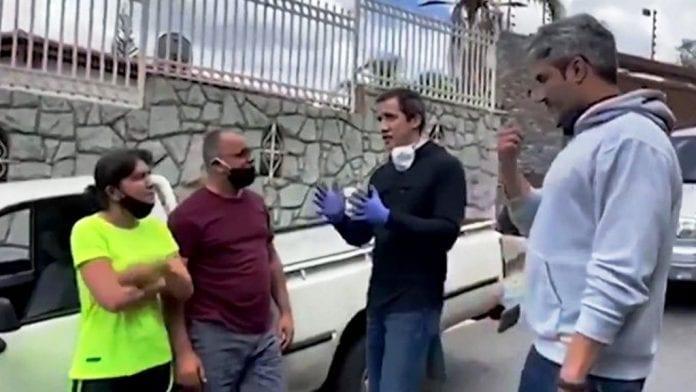 Guaidó reaparece en calles de Caracas - noticias24 Carabobo