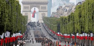 tradicional desfile militar en Francia