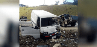Accidente vía Bejuma