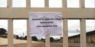 Mercado de Mayoristas cerrado