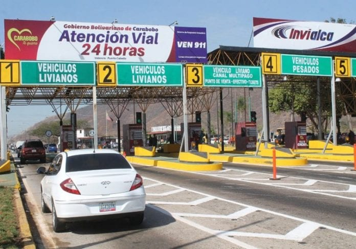Nuevas tarifas de peajes en Carabobo