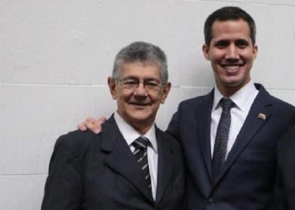Juan Guaidó y Henry Ramos Allup - Juan Guaidó y Henry Ramos Allup