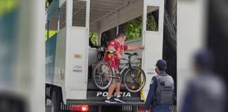 detienen a ciclistas en Aragua