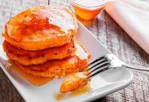 panquecas de zanahoria y canela
