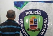 Aprehendido sexagenario en Guacara