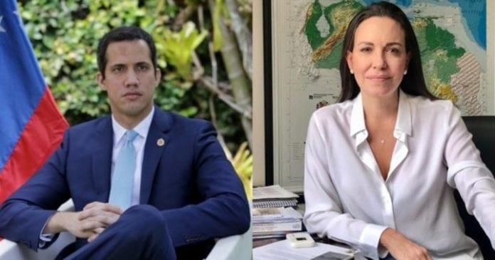 Juan Guaidó y María Corina Machado