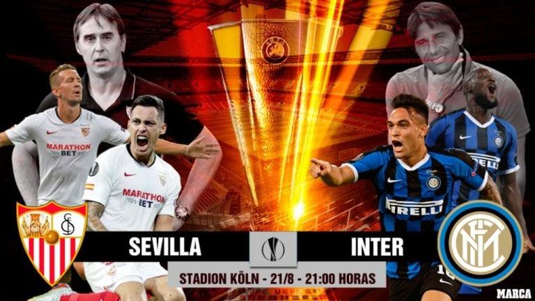 ¡Final de Liga Europa! Sevilla busca ampliar récord e Inter resurgir