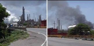 Fuga de gas en refinería El Palito
