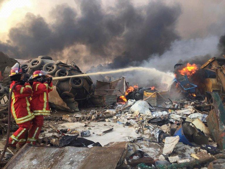 Fuerte explosión en el puerto de Beirut, Líbano