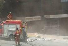 Incendio en sede del Ministerio Público