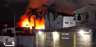 Incendio en vivienda en El Parral