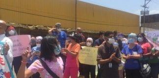 Protesta en la CHET