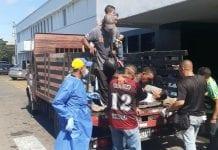 Volcamiento de camión con pasajeros en Ciudad Bolívar