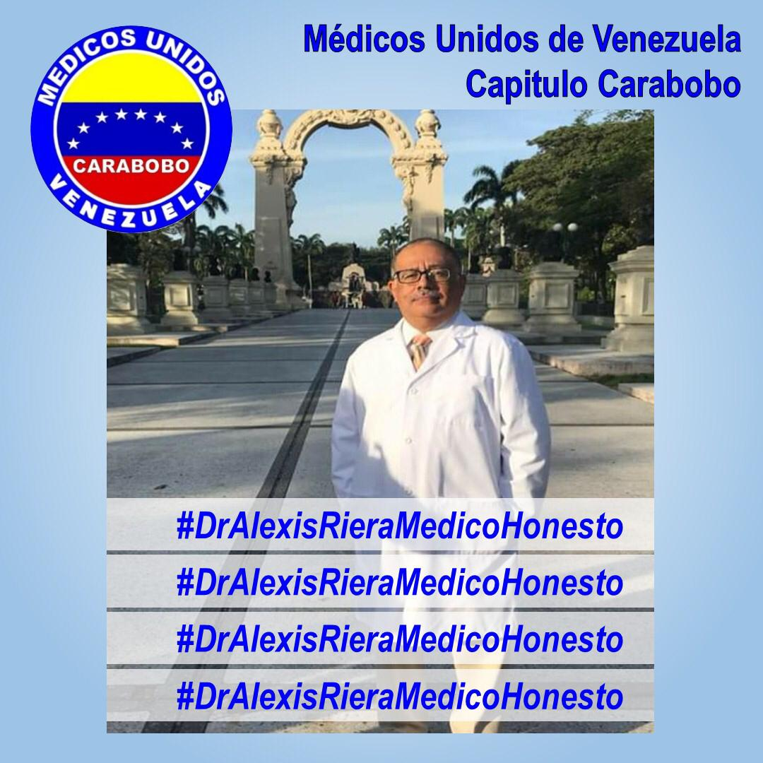 Exigen liberación del Doctor Alexis Riera