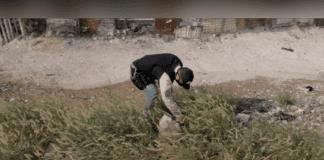 La explosión de una granada en Lara - La explosión de una granada en Lara