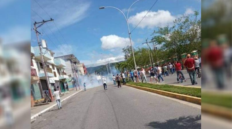 protestas en Nirgua y Sabana de Parra