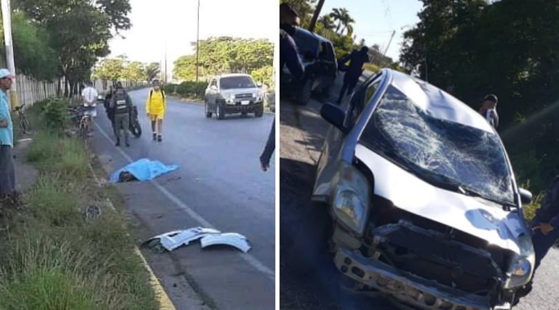 ciclistas arrollados por vehículo en Cumaná