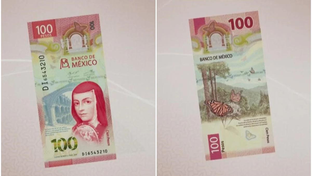Nuevo billete de 100 pesos
