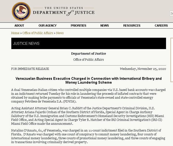 EEUU acusa a empresario venezolano
